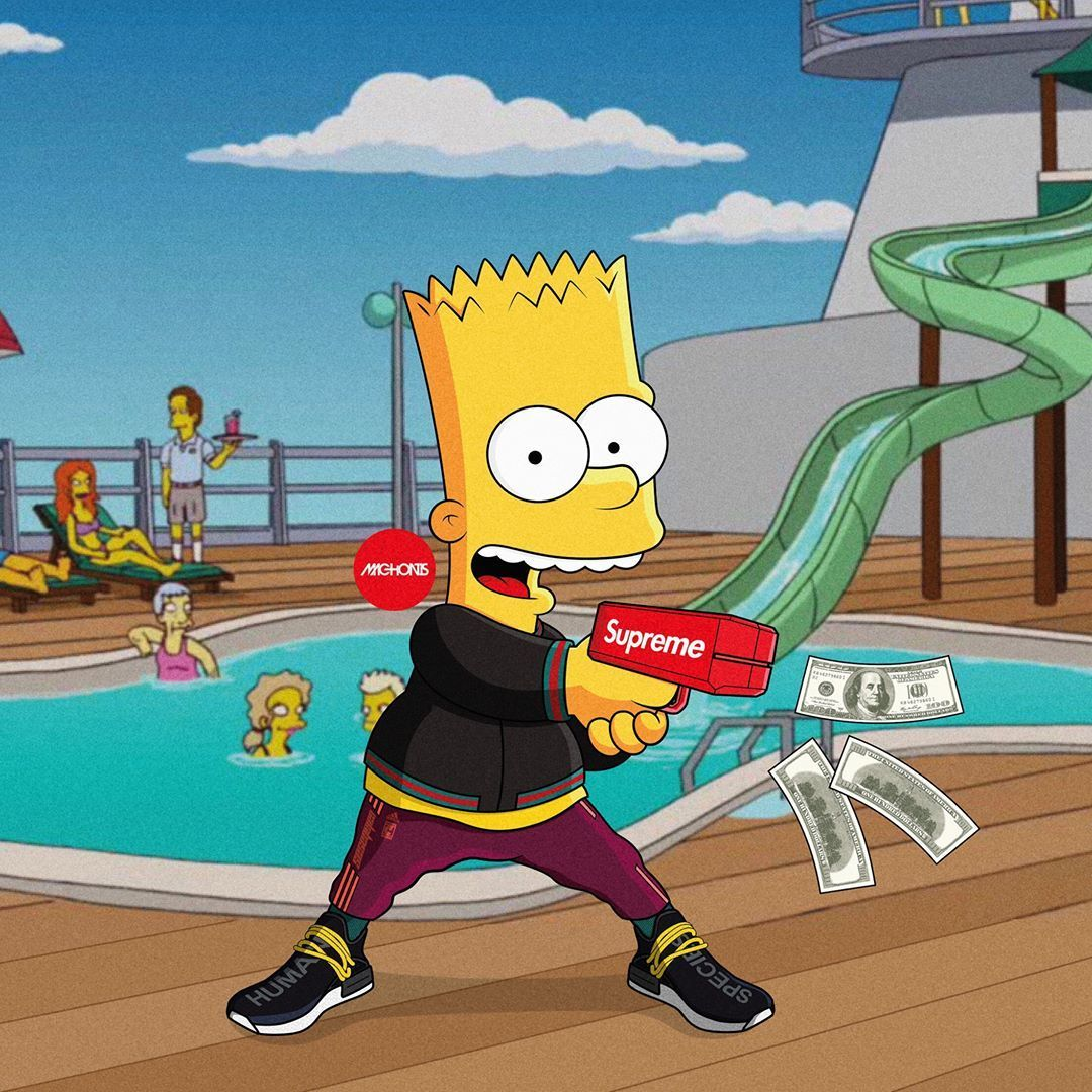 Dope Bart Simpson Supreme Wallpapers   Top Dope Bart Simpson 1080x1080