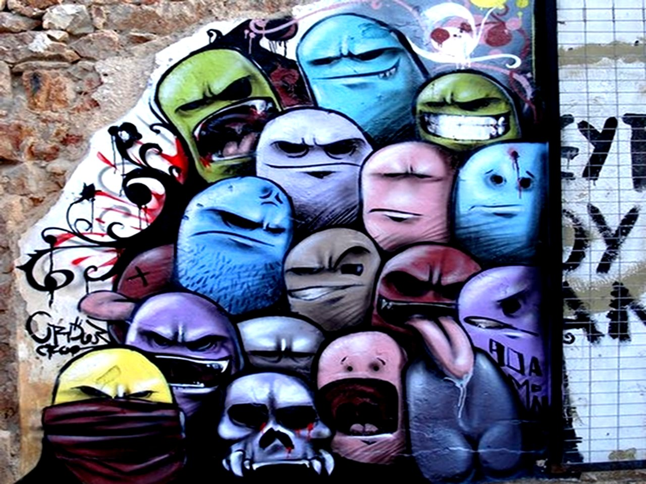Cool Graffiti   Wallpapers Images Pictures Pics Wallpapers Wall 1280x960