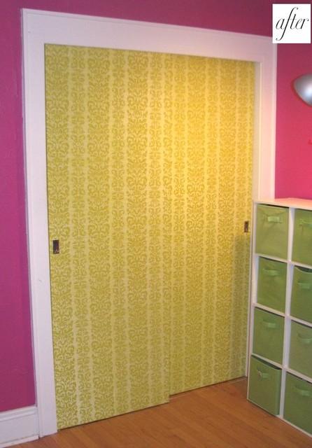 Closet Door Wallpaper