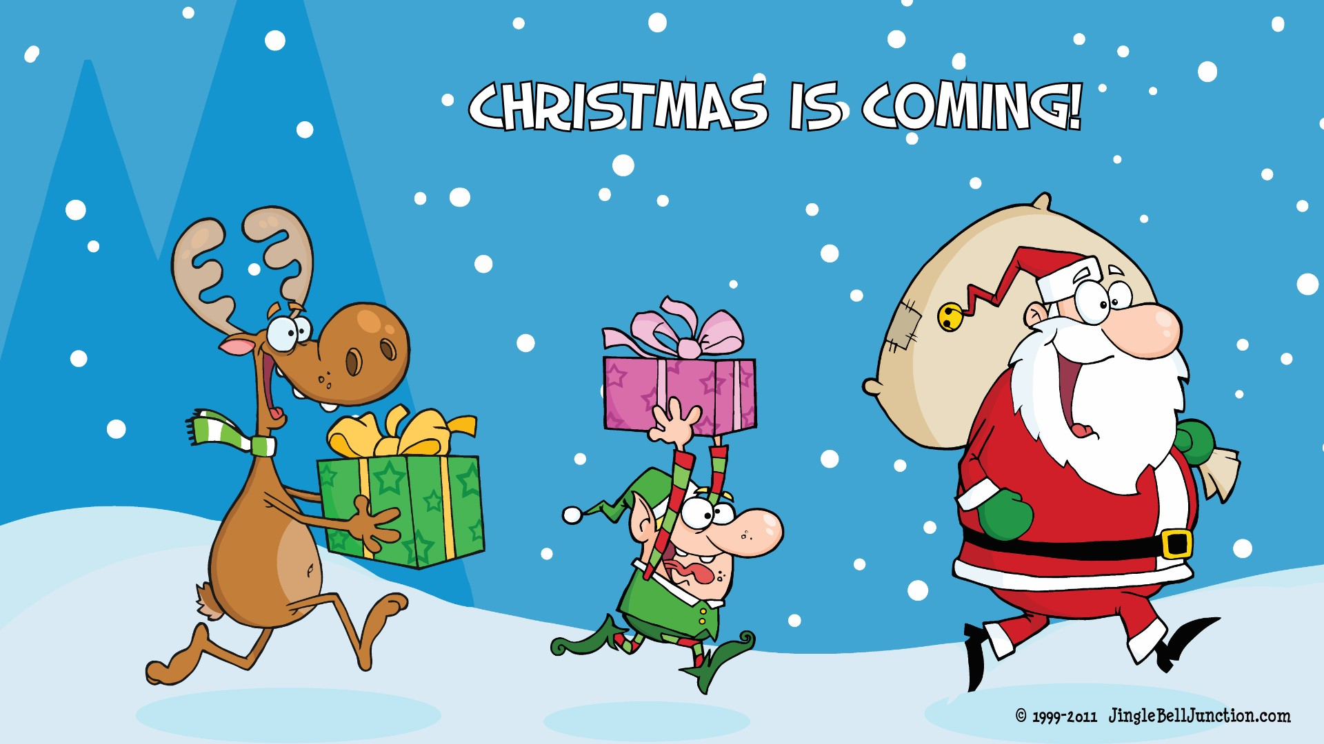 Cute Christmas Reindeer Wallpaper Wallpapers Desktop 1920x1080