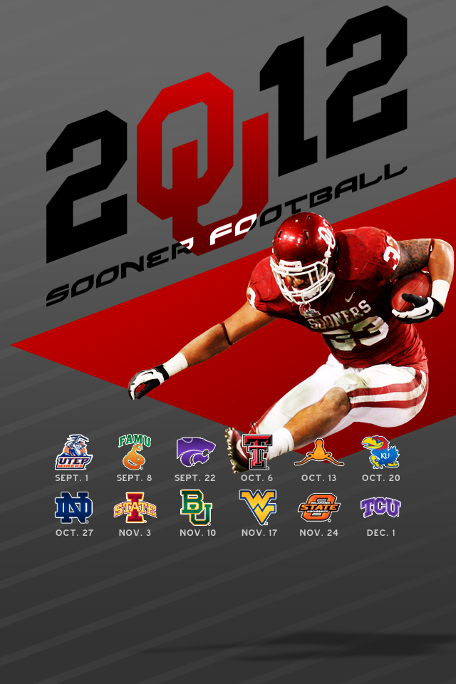Oklahoma Sooners Football Wallpaper 2013 2012 ou football schedule 640x960