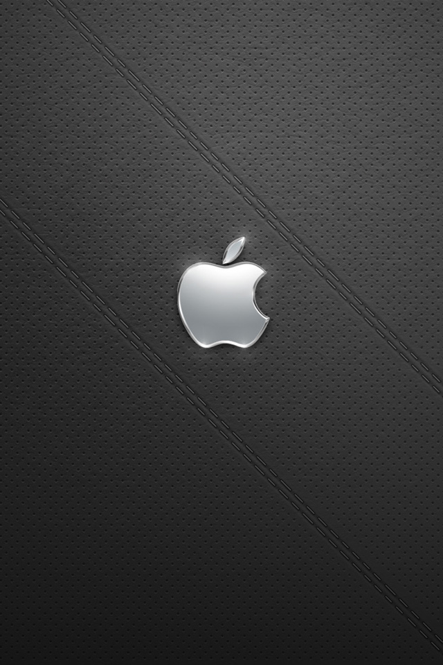 Shiny Silver Apple iPhone 4s Wallpaper Download iPhone Wallpapers 640x960