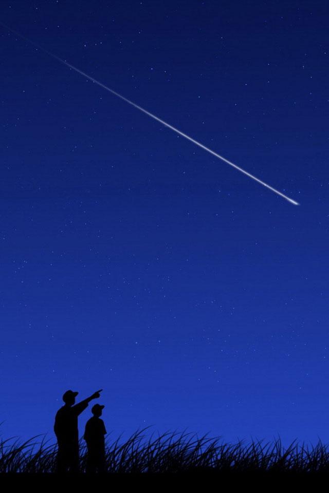 Shooting Star iPhone Wallpaper HD 640x960