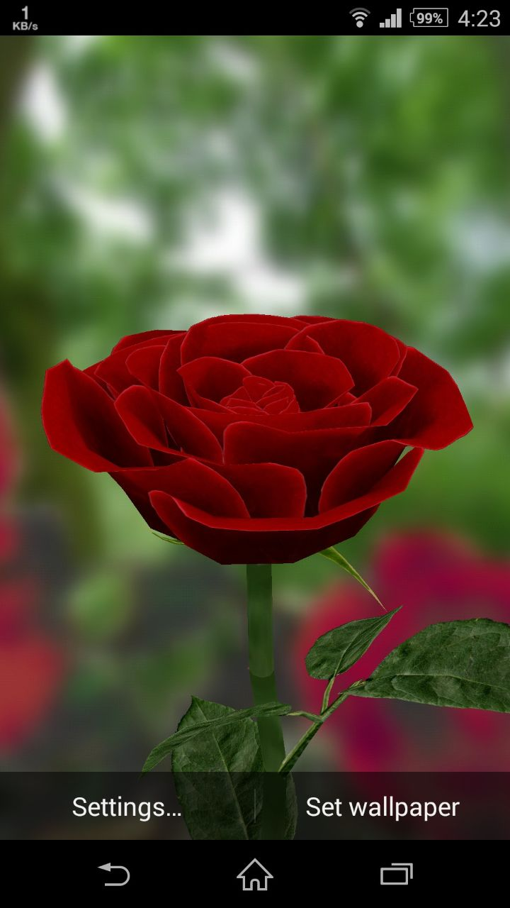 3D Rose Live Wallpaper for Android   TopAndroidWallpaperscom 720x1280