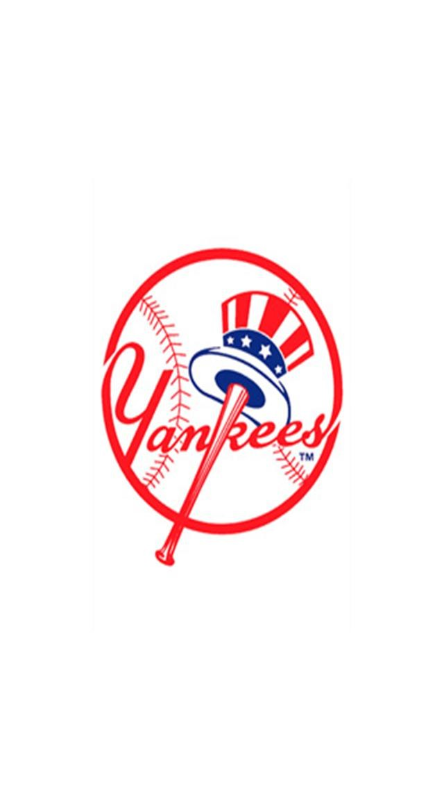 New York Yankees 1 LOGO iPhone Wallpapers iPhone 5s4s3G 640x1136