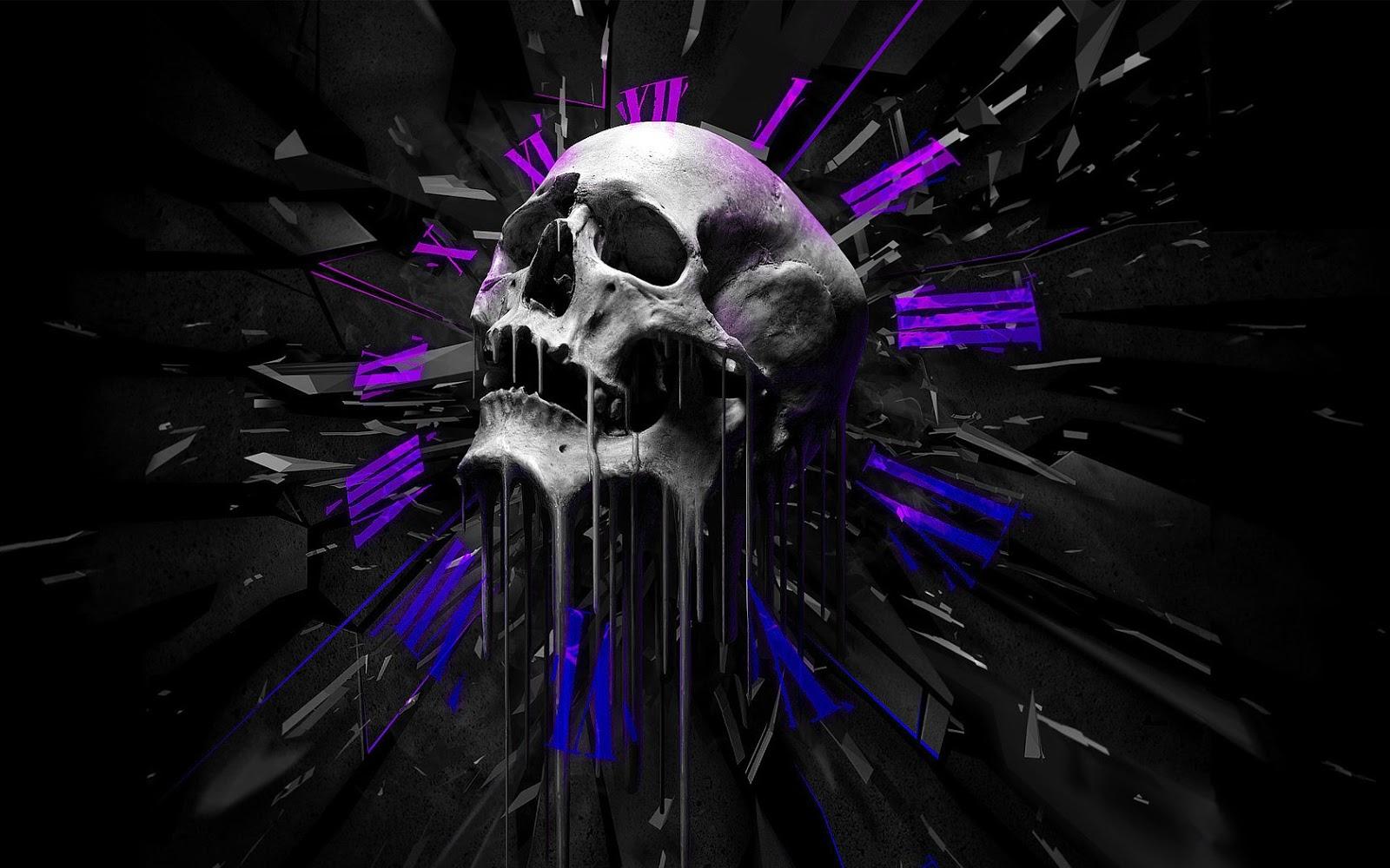 Free Skulls Wallpaper on WallpaperSafari