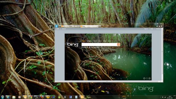 Set Windows Desktop Wallpaper from Bing Homepage using Bing Desktop 574x323