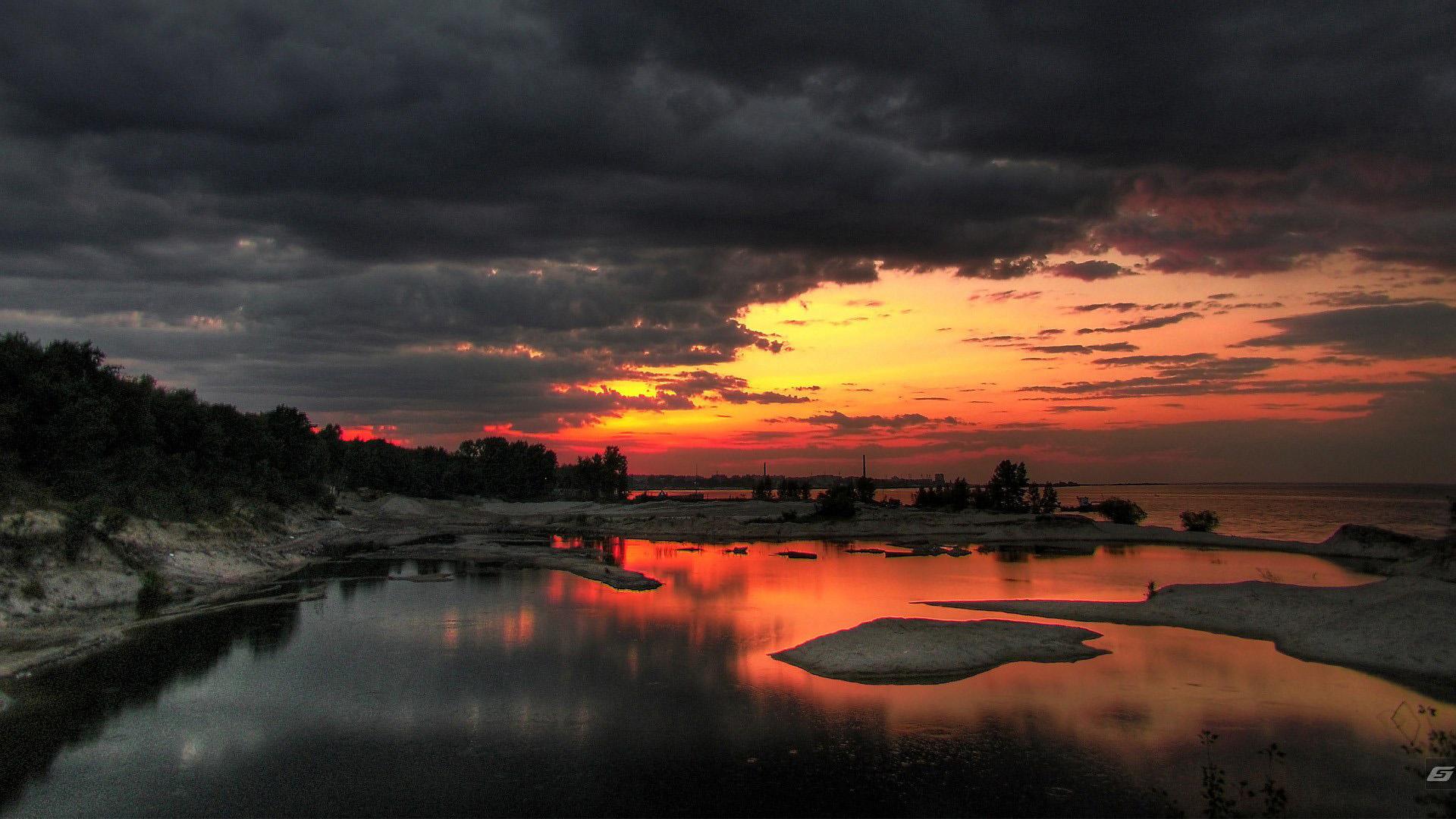 nature wallpaper beautiful desktop sunset stage landscape 1920x1080