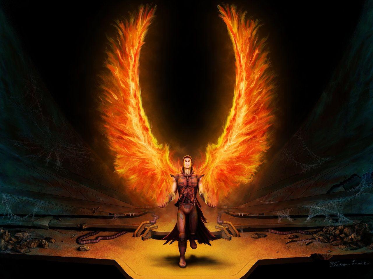 Angels Wings Wallpaper 1280x960 Angels Wings Fire Fantasy Art 1280x960