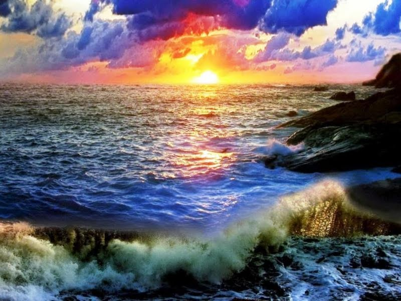 OCEAN SUNSET Wallpaper Walltor 800x600