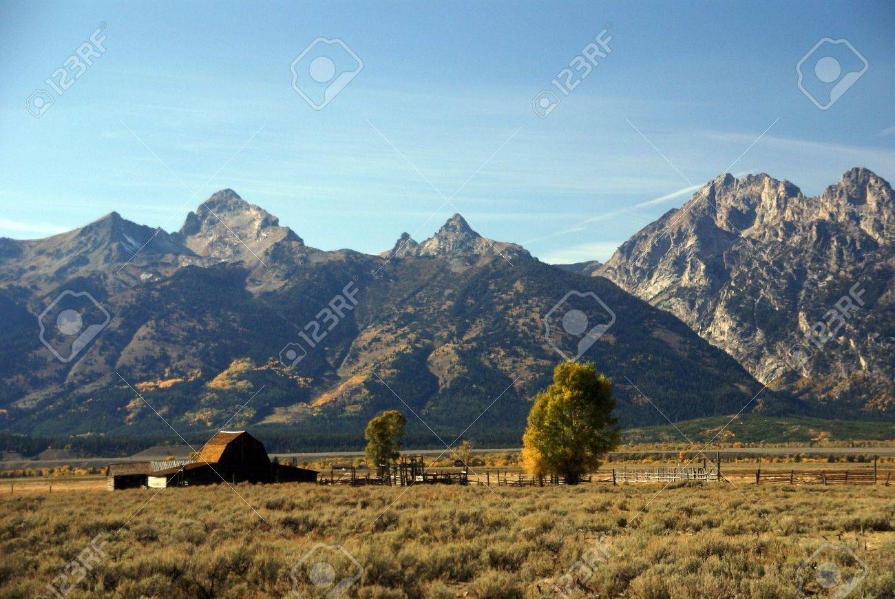 Western Buildings With Tetons In Background Antelope Flats 1300x870