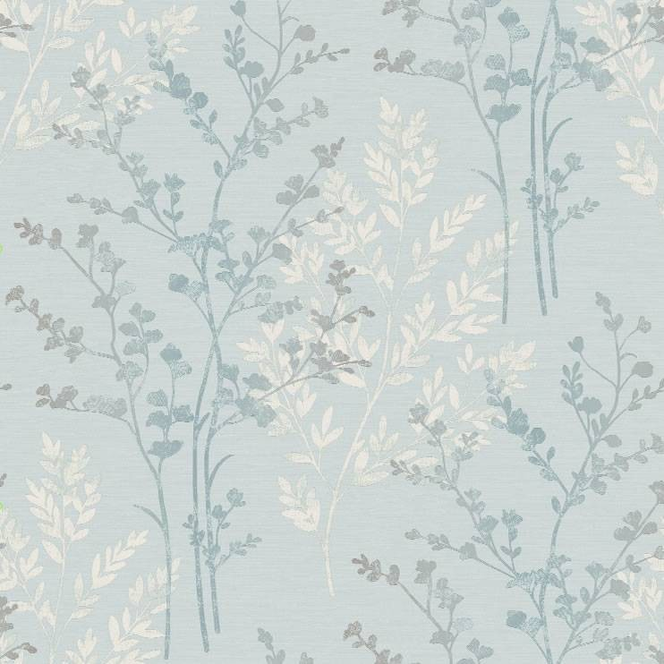 Teal Green White Grey   250405   Fern   Motif   Arthouse Wallpaper 742x742