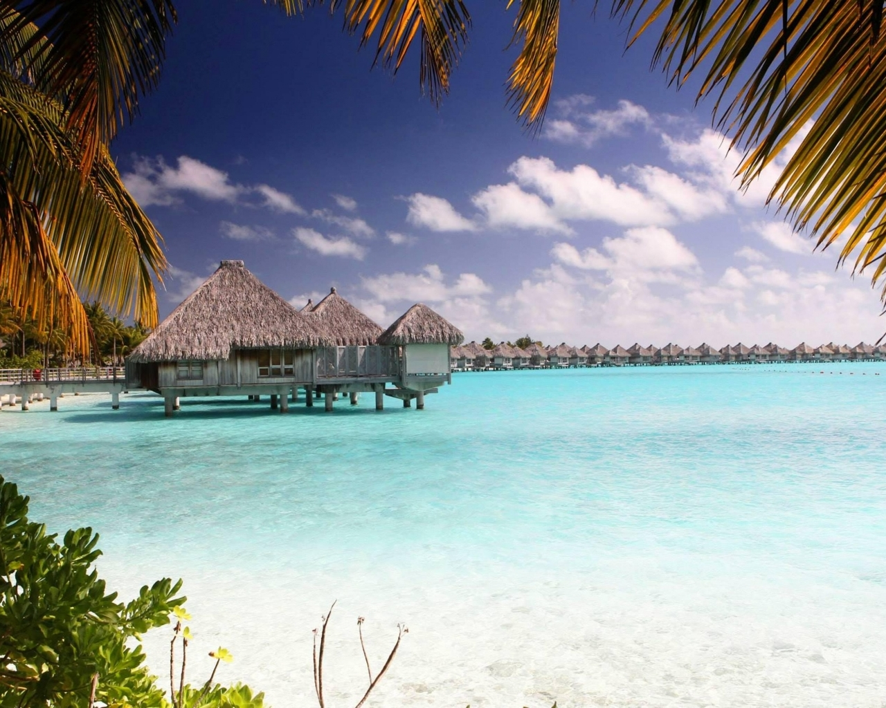 Similar wallpapers for Bora Bora Clear Blue Lagoon 1280x1024