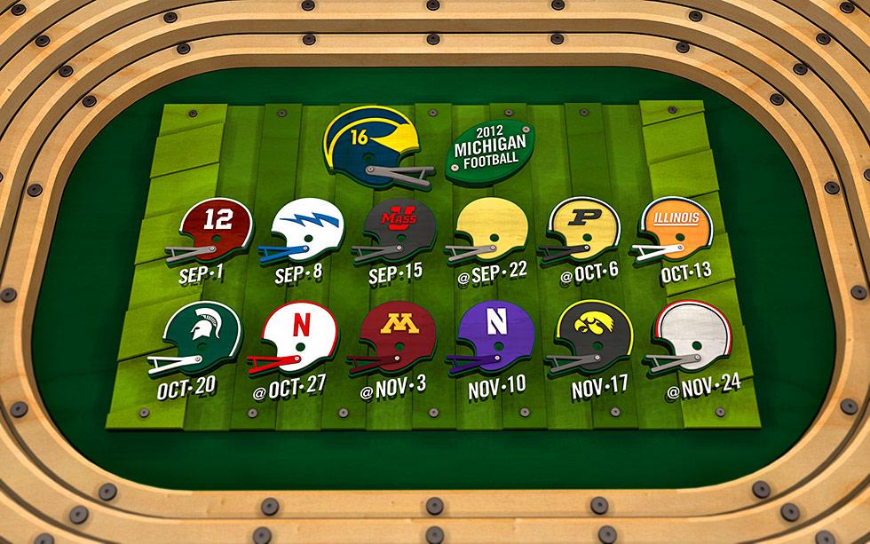 Scrap Wood – 2012 Season – Michigan Football Fan Art