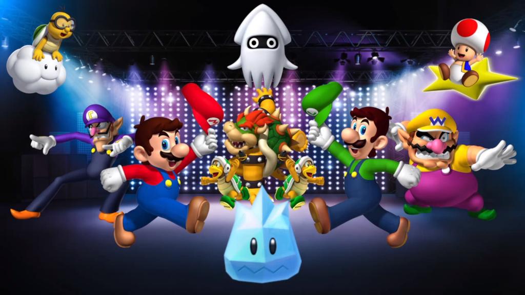 Dance Dance Revolution Mario Mix Wallpaper by MidniteAndBeyond on 1024x576