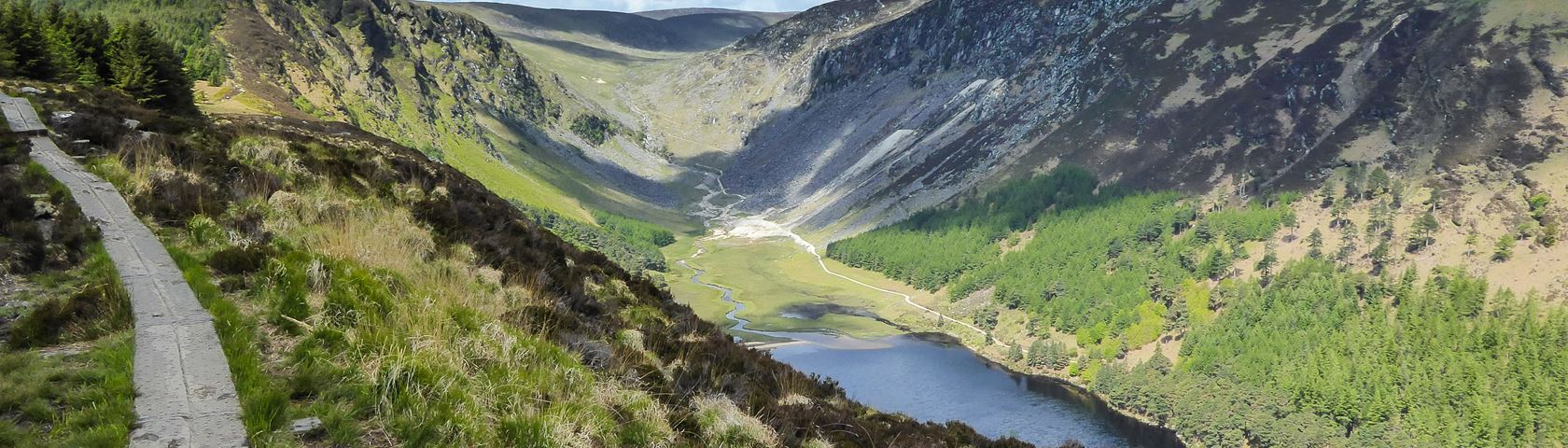 Glendalough Scenic View Images WallpaperFusion by Binary 1680x480