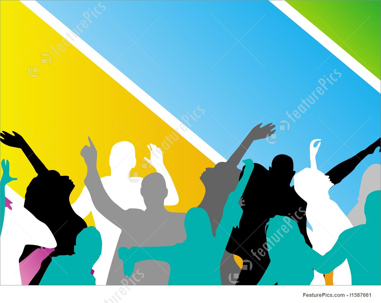 Young People Having Fun Vector Stock Illustration 1300x1034