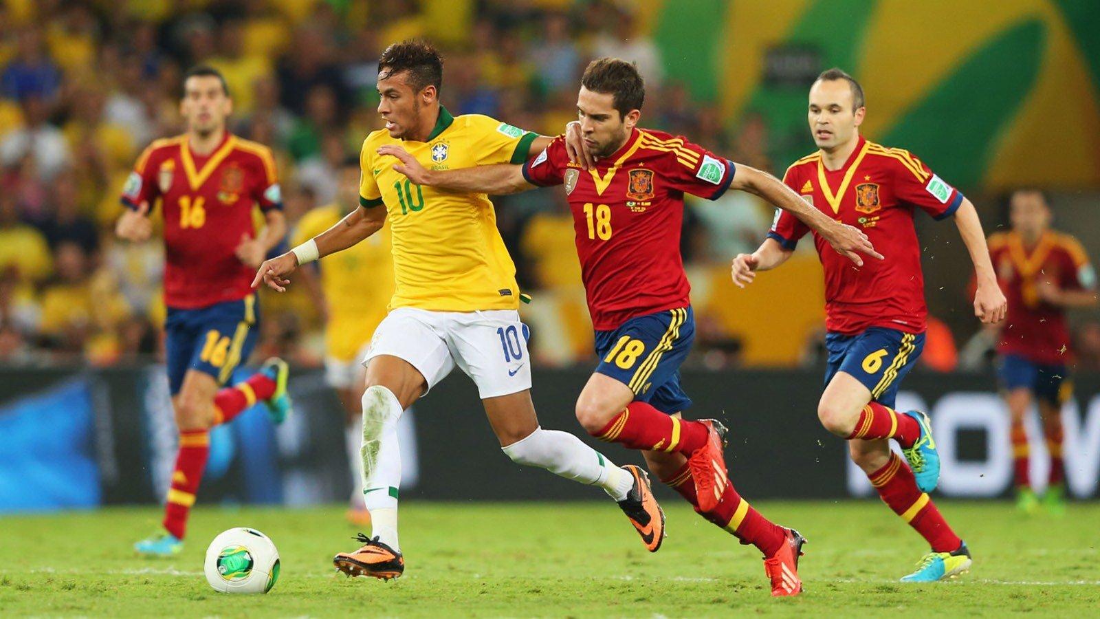 football sport neymar spain brazil soccer hd wallpaper background 1600x900
