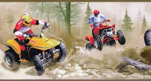 New All Terrain Vehicle Wallpaper Border Wallpaper inccom BZ9441BDB 525x281
