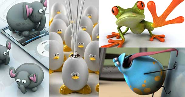 26 cute and cool 3d animal wallpapers These are not only wallpapers 610x320