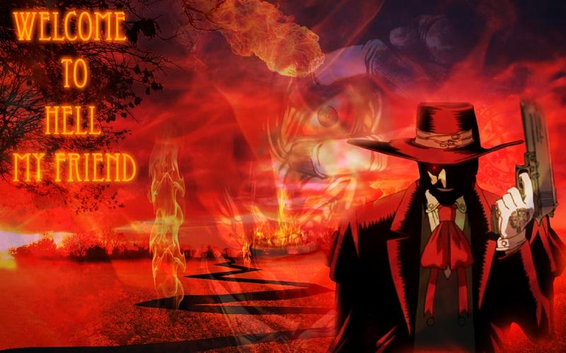 Hellsing Alucard in Hell Anime Hellsing HD Desktop Wallpaper 800x500