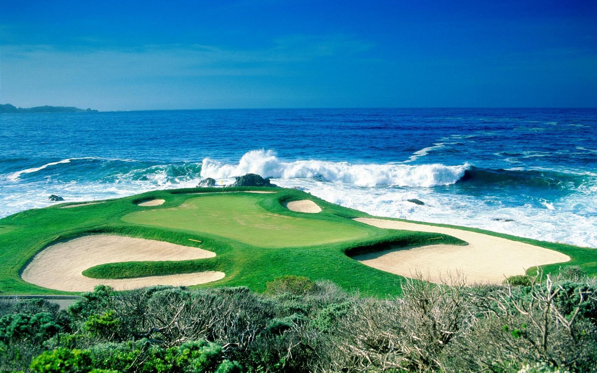 Beach Golf Lscape HD wallpapers 1920x1200
