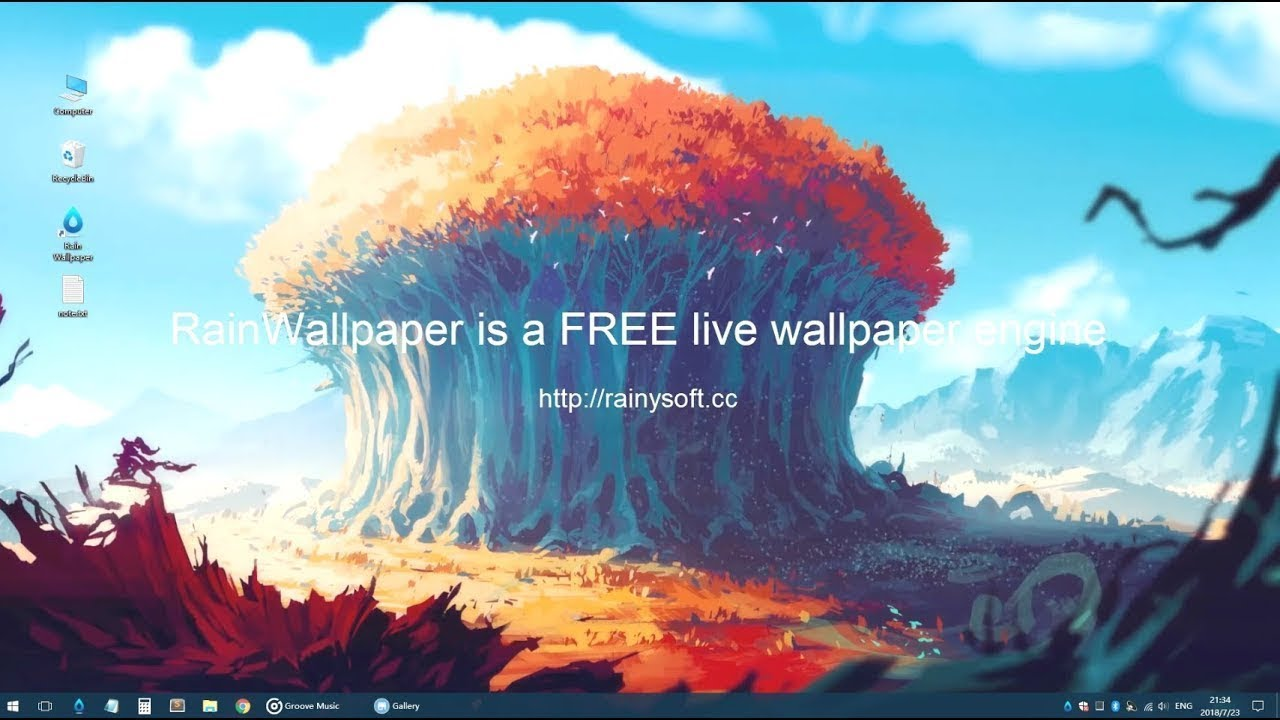 Set Live Wallpapers Animated Desktop Backgrounds in Windows 10 1280x720
