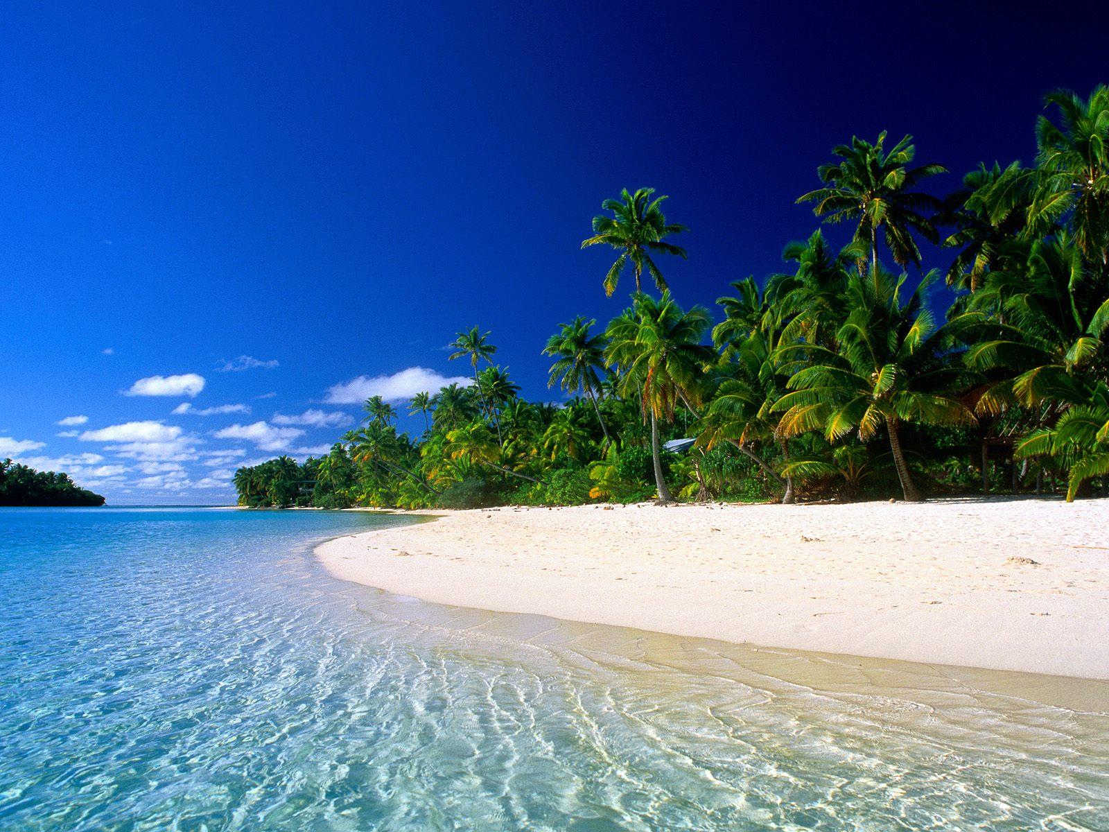Wallpaper Of Beach A Quiet Beach In Cook Islands Wallpaper 1600x1200