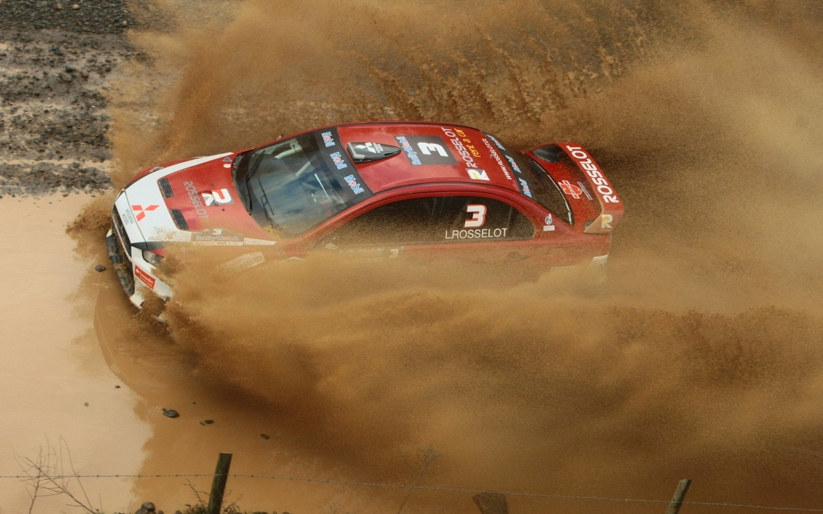 image with Mitsubishi Lancer Evolution In Mud Rally Hd Car Wallpaper 1680x1050
