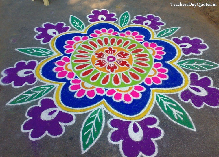 rangoli designs with flowers for diwali 2015 beautiful rangoli designs 757x543