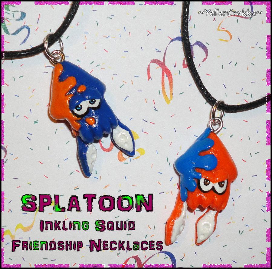 Splatoon   Inkling Squid Friendship Necklace Set by YellerCrakka on 899x888
