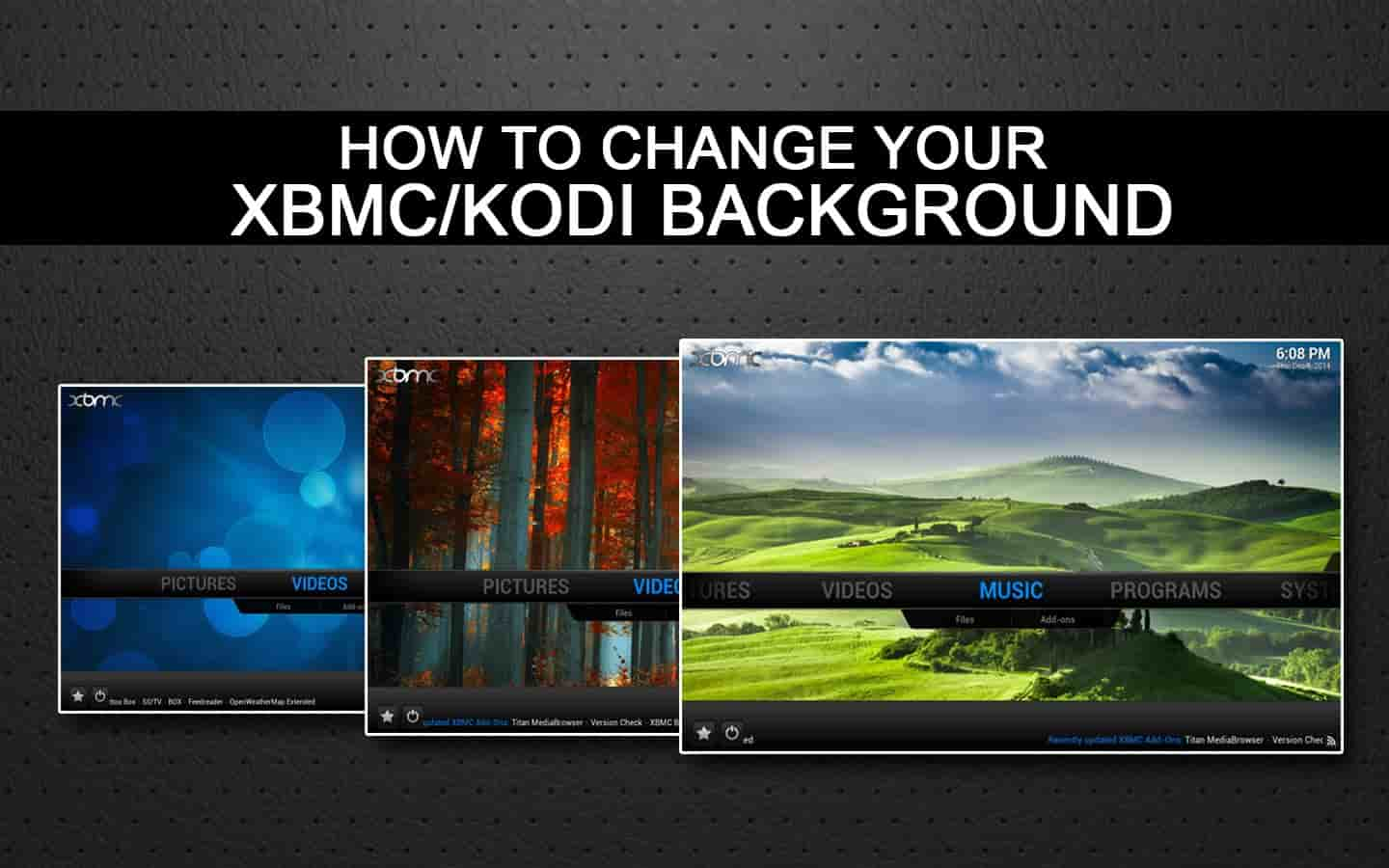 How to change kodi background wallpapers and skins   Kodiforu 1440x900