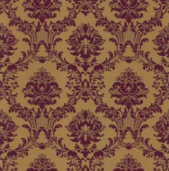 Wallpaper Large Deep Burgundy and Gold Metallic Victorian Damask 547x552