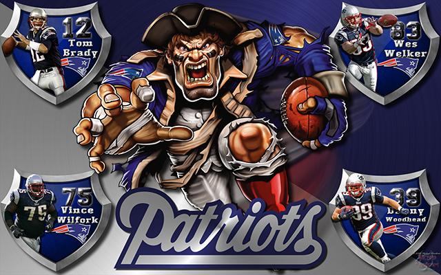 Patriots Logo Wallpaper Patriots crazy logo shield 640x400