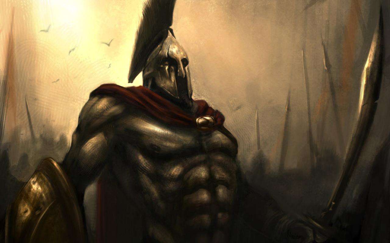 300 Spartan Sword Shield Helmet Cloak Red Shakugan No Shana Wallpaper 1280x800