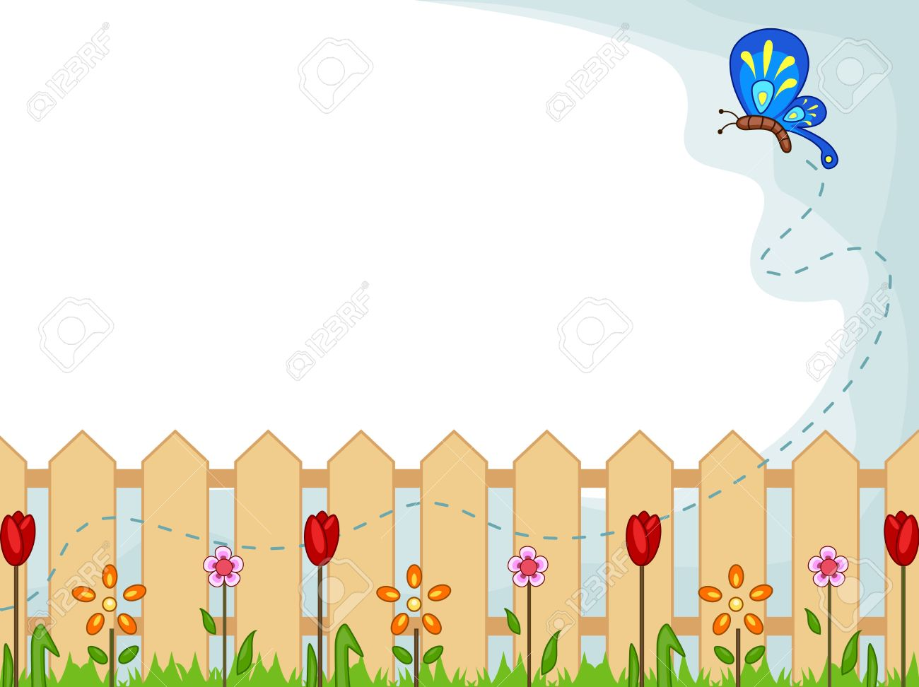 Background Illustration Featuring A Cute Butterfly Checking Out 1300x972