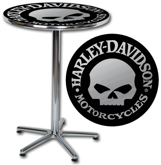 Harley Davidson Willie G Skull Cafe Table   Barnett Harley Davidson 564x580