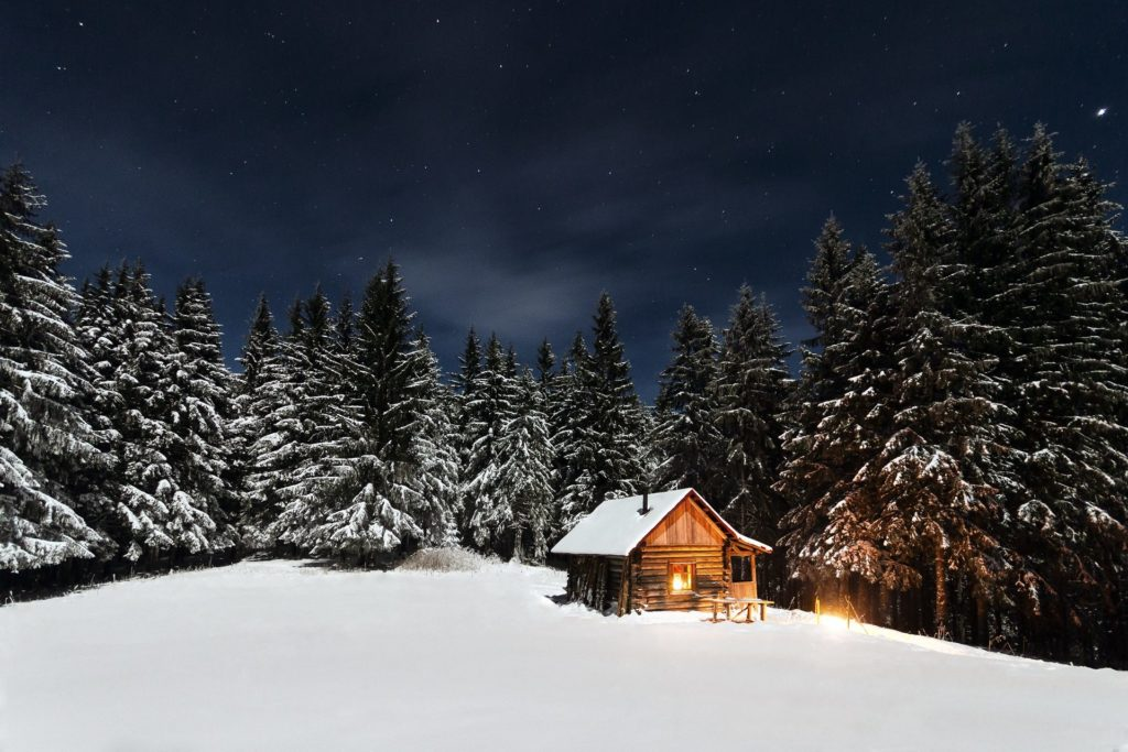 Winter Cabin Wallpapers Full HD Download 1024x683