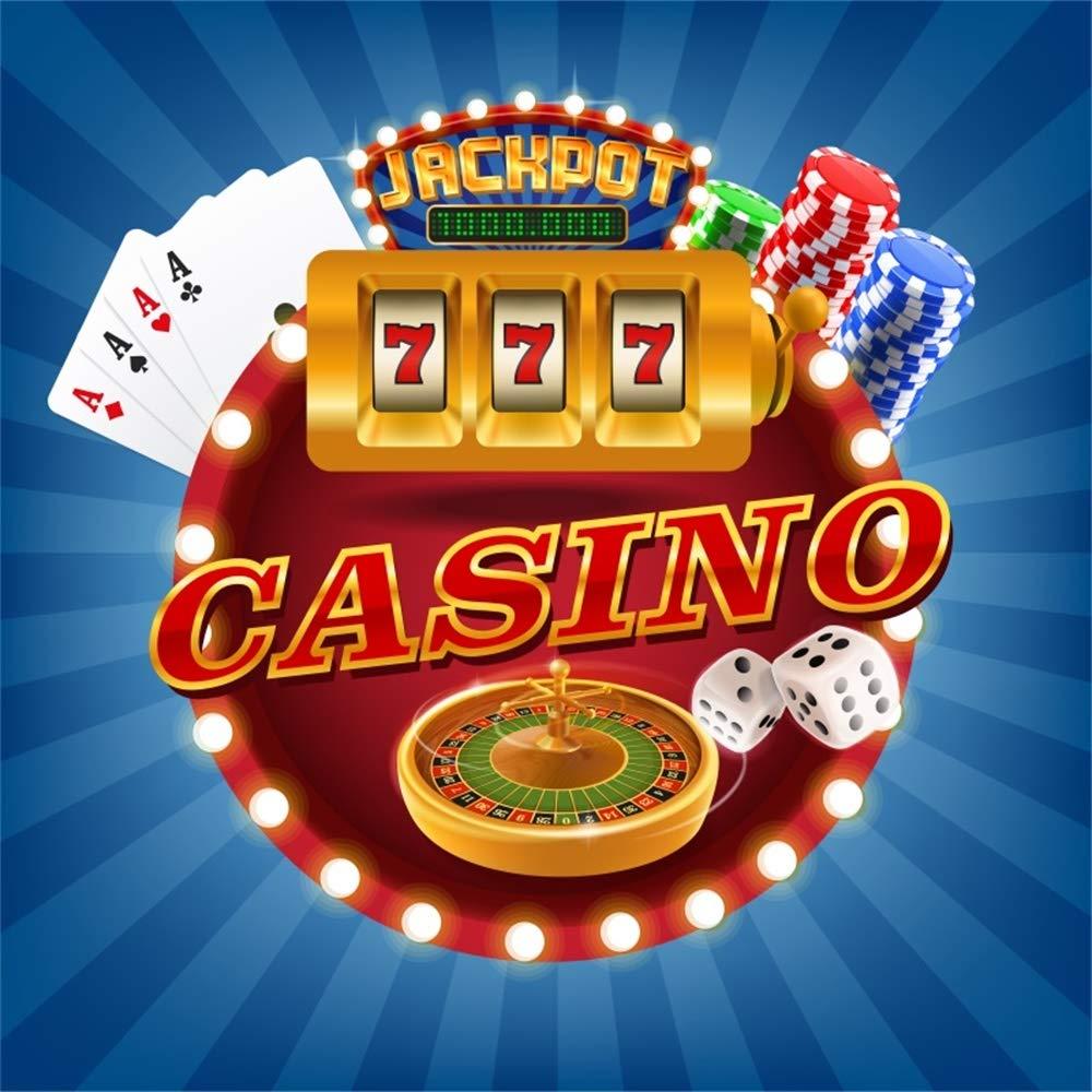 Amazoncom AOFOTO 6x6ft Casino Token Roulette Wheel Backdrops 1000x1000