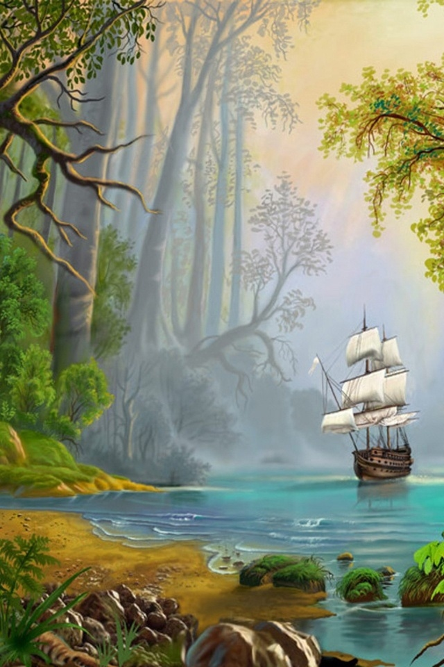 Free Download Hd Ship And Forest Photoshop Iphone 4 Wallpapers Backgrounds 640x960 For Your Desktop Mobile Tablet Explore 45 Photoshop Background Full Hd Wallpaper Wallpaper For Photoshop