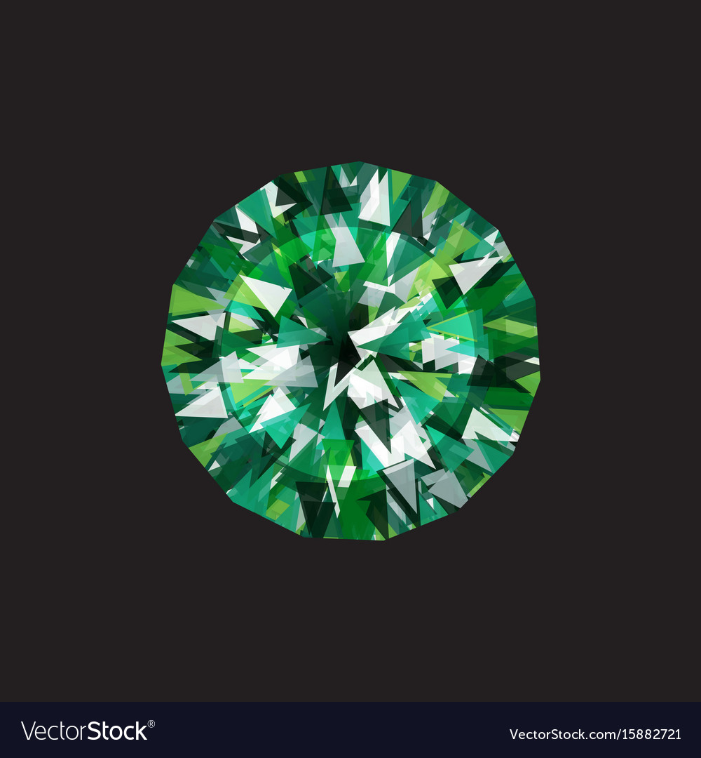 Emerald on a black background Royalty Vector Image 1000x1080