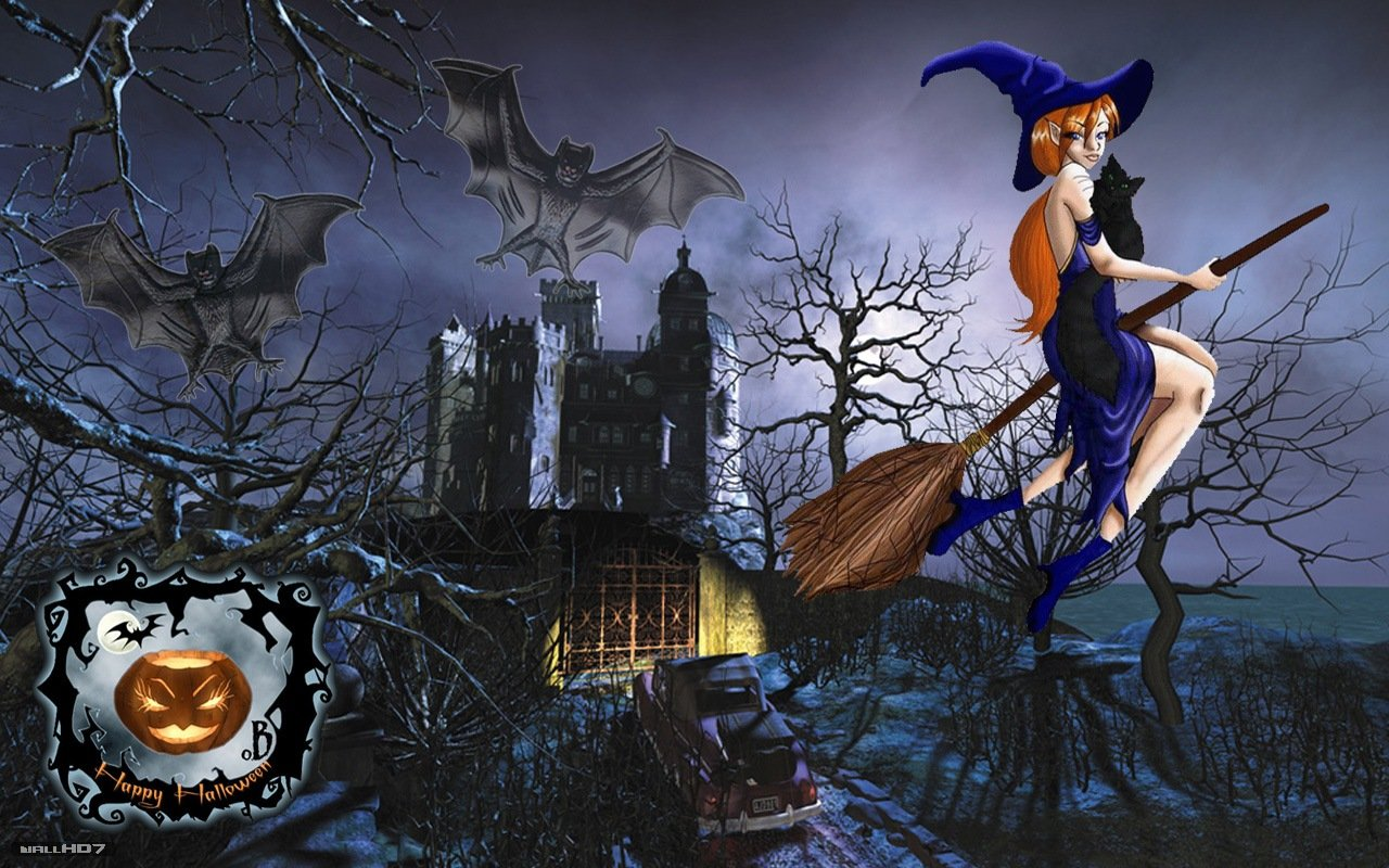 Wallpaper HD Sexy witch in Halloween Wallpapers Wallpaper HD 1280x800