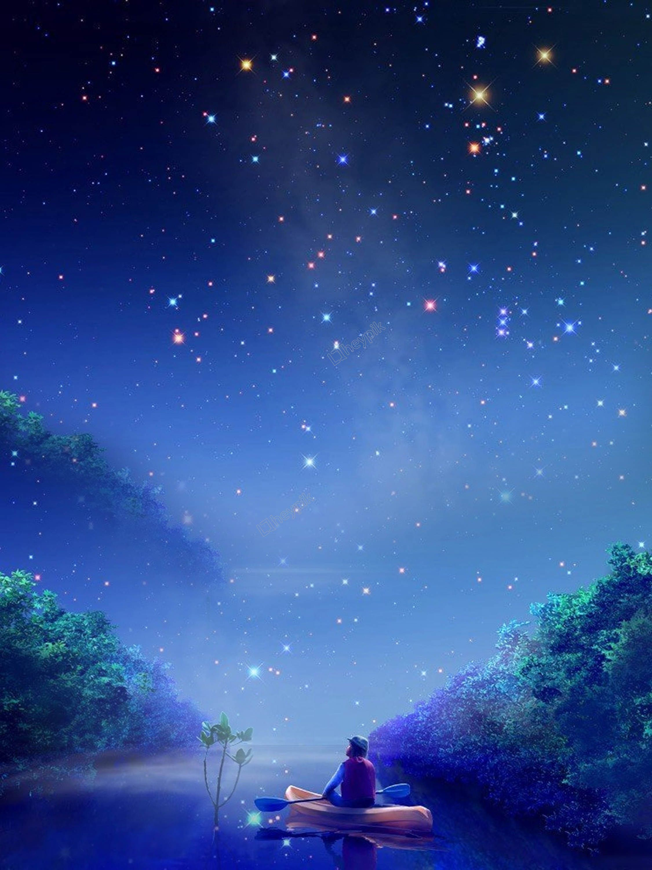 Blue starry sky youth dreaming background Starry in 2019 2250x3000