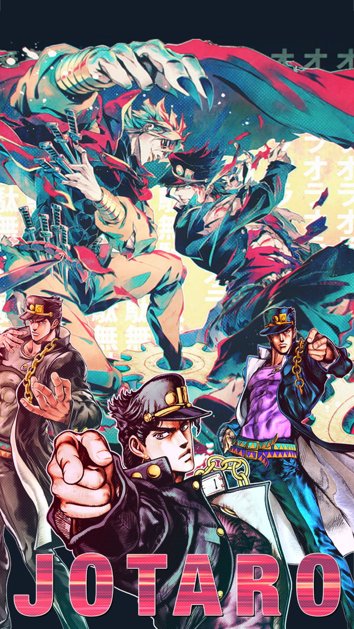 Made a cool jojo background for my mobile what u guys think   9GAG 700x1244