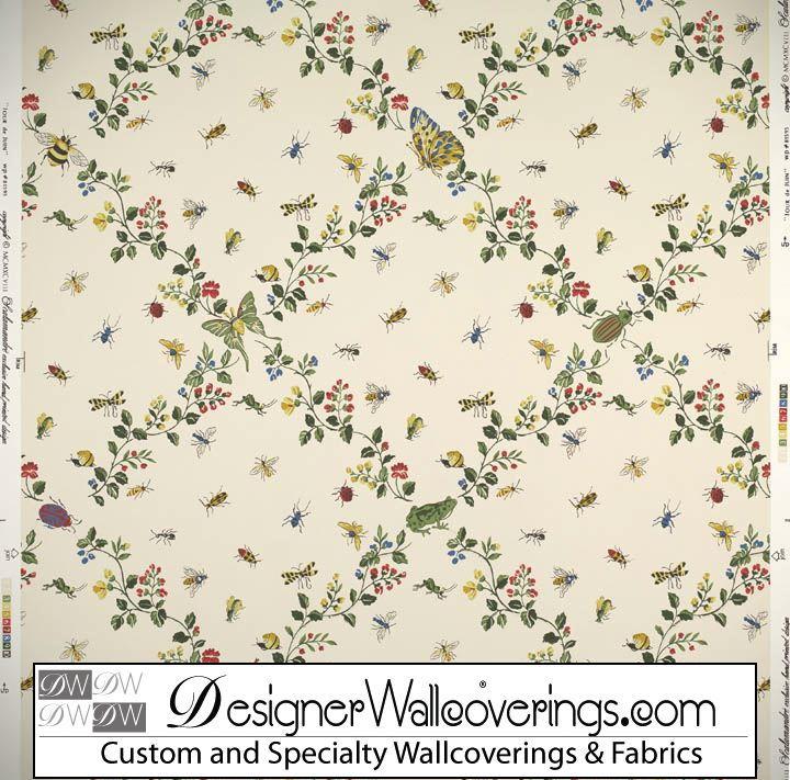 Bug Trellis Lattice Wallpaper [PAL 42076] Designer Wallcoverings 720x711