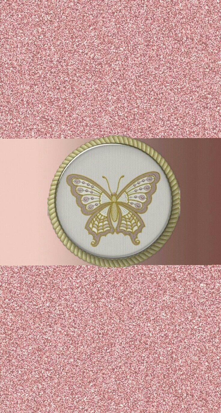 Rose gold and white butterfly Wallpaper Butterfly White 736x1376