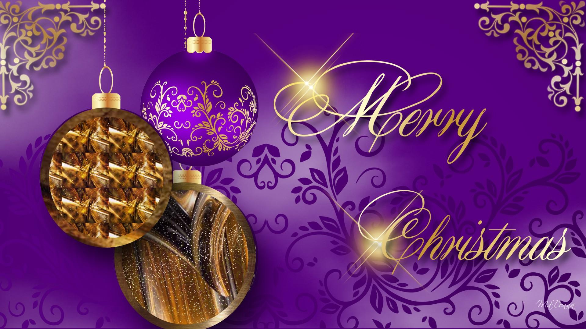 Christmas Purple and Gold wallpaper   ForWallpapercom 1920x1080