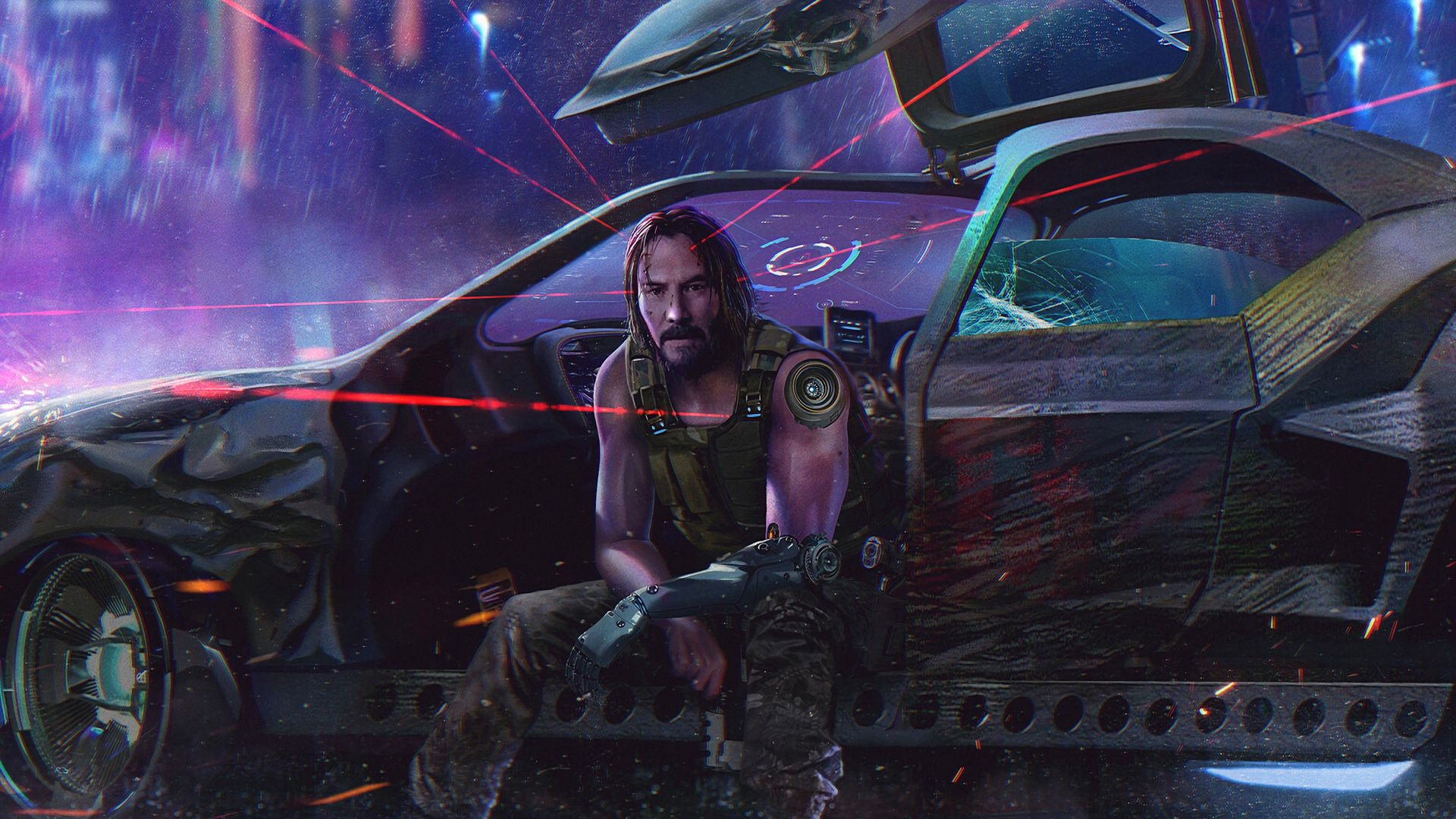 Desktop wallpaper cyberpunk 2077 keanu reeves video game 2019 1920x1080