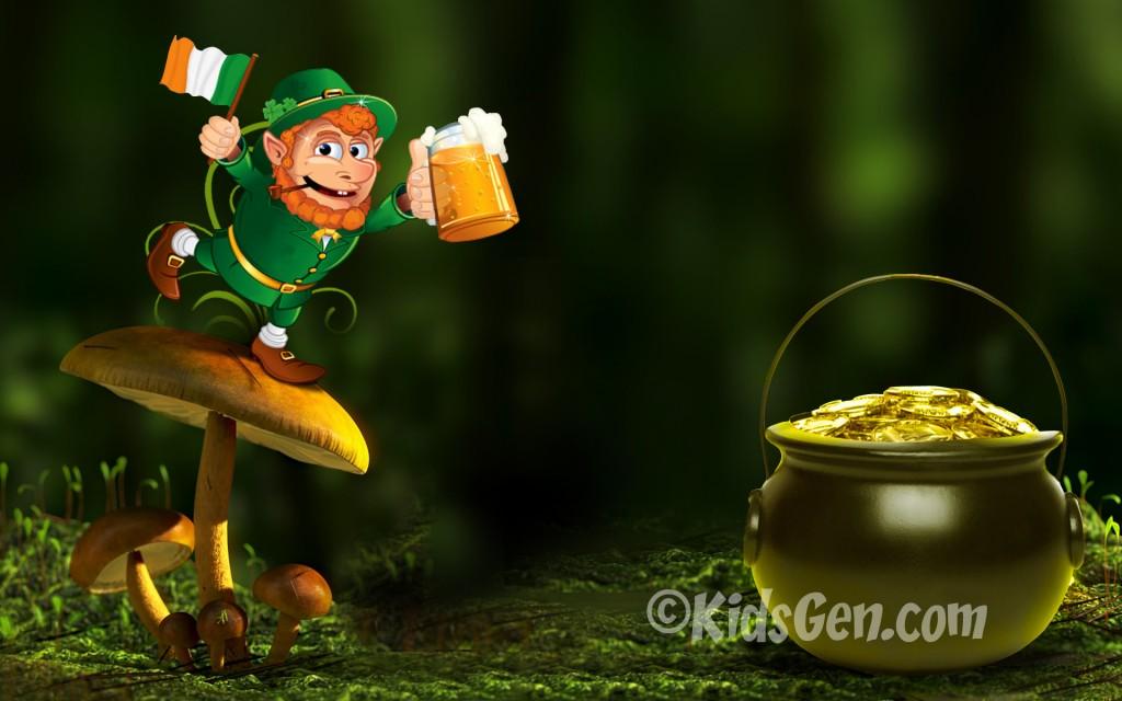 Get Lucky with Leprechaun Desktop Wallpaper for St Patricks Day 1024x640