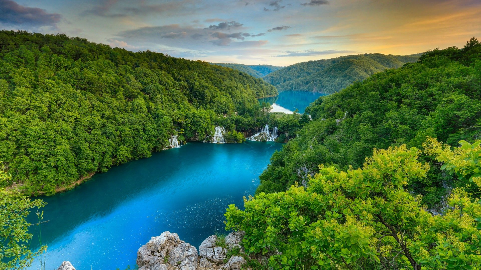 Plitvice Lakes National Park Croatia [Desktop wallpaper 1920x1080